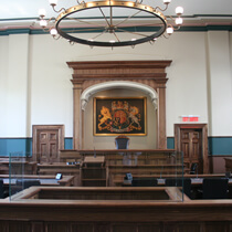 Photograph of a court house interior