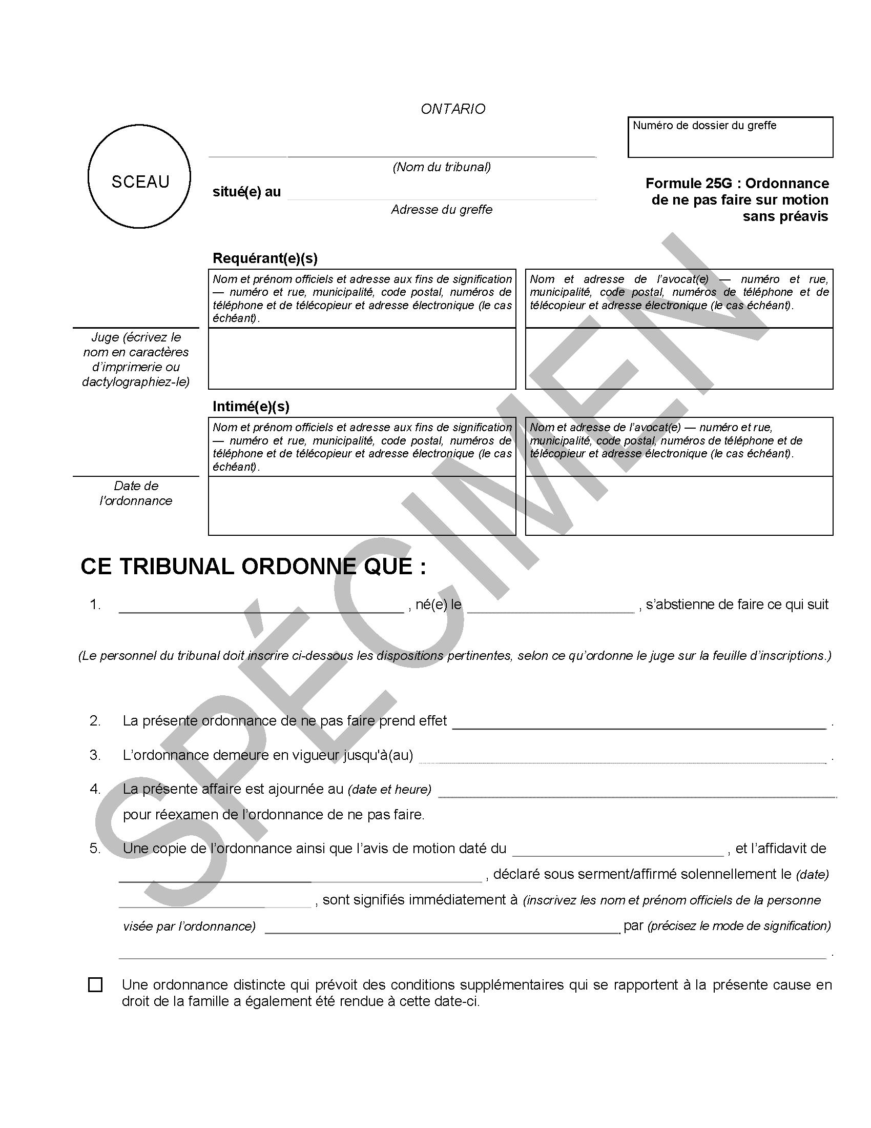 Ordonnance De Ne Pas Faire Ministere Du Procureur General
