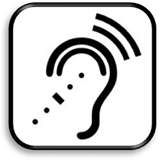 Assistive listening device symbol
